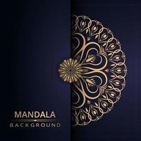 Fondo de mandala con estilo arabesco dorado