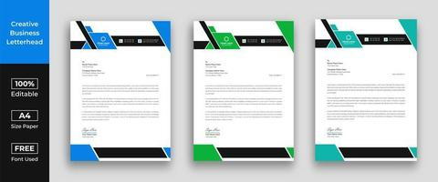 Letterhead template in flat style vector