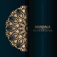 Fondo de diseño de tarjeta de mandala ornamental