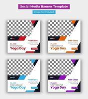World yoga day promo social media