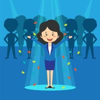 Female Talent Search Businesswoman in Spotlight