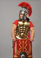 Legionary soldier looking for an enemy photo