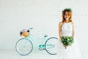 wedding with a bicycle