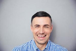 Portrait of a laughing man photo