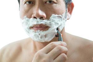 Man shaving photo