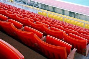 Seat grandstand. photo