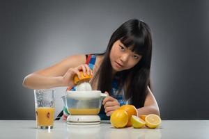 Asian woman and juice