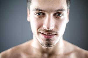 Young man beauty portrait photo
