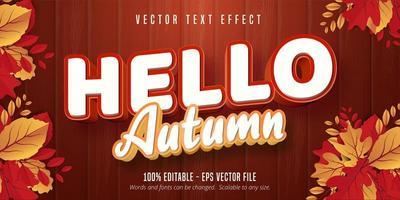 hola otoño efecto de texto
