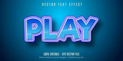 Blue Purple Play Text Effect  vector