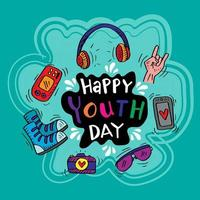 Happy Youth Day Background  vector