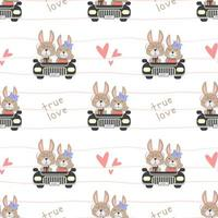 True love Bunny driving a car
