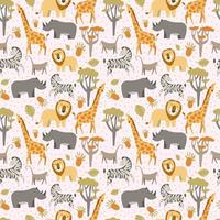 Pattern with african animals