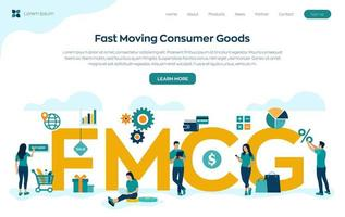 Fast Moving Consumer Goods acronym vector