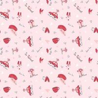Valentine's Day romantic pattern  vector