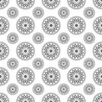 padrão sem emenda do ornamento do círculo vetor