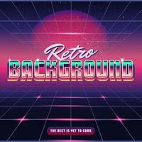 Retro Synthwave Design Background vector