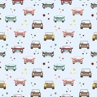 Seamless Pattern of toy cars