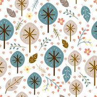 Baby seamless pattern of floral