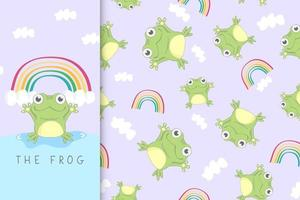 Happy frog and the rainbow vector