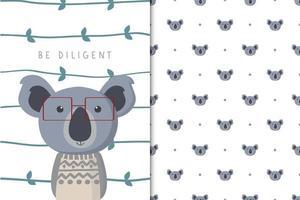 ser diligente koala vector