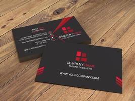 Commercial Red, Black Business Card Template