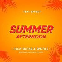Summer season Text effect  vector