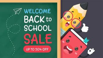 Pencil and book back to school vector