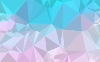 Blue pink gradient low poly
