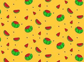 padrão desenhado de mão de melancia