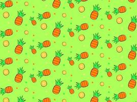 Pineapple summer season vector