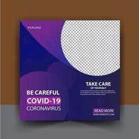 Coronavirus social media post vector