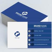 White and Blue Business Cards vector