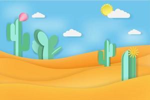 Cactus in the Desert vector