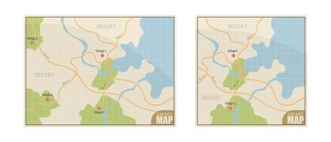 mapa de safari en blanco