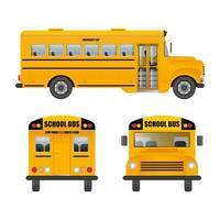 autobús escolar en blanco vector