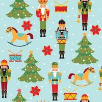 Kids vintage toy background pattern in vector