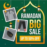 Ramadan Big Sale Background With Fashion Icons