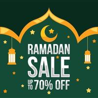 Ramadan Sale Background With Islamic Ornaments vector