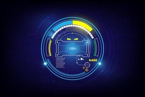 Futuristic sci-fi loading screen design vector