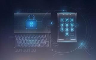 elementos de seguridad de tecnología digital vector