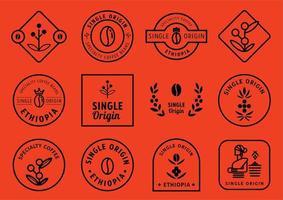 conjunto de design de distintivo de origem única vetor