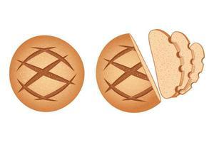 set di pane tondo fatto in casa