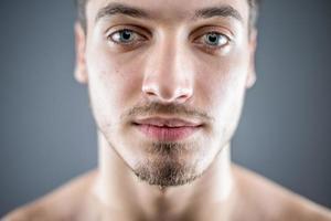 Young man beauty portrait