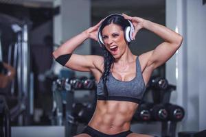 Beautiful Fit Girl In The Gym