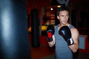 joven boxeador foto
