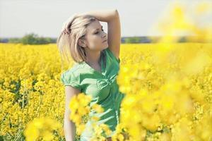 Beautiful woman posing outdoor.