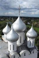 Church domes top view photo