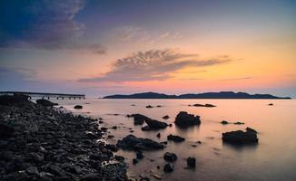 Sunset seascape, hat sor, sattahip