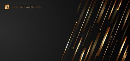 Abstract Modern Template Banner Gold Lines Design